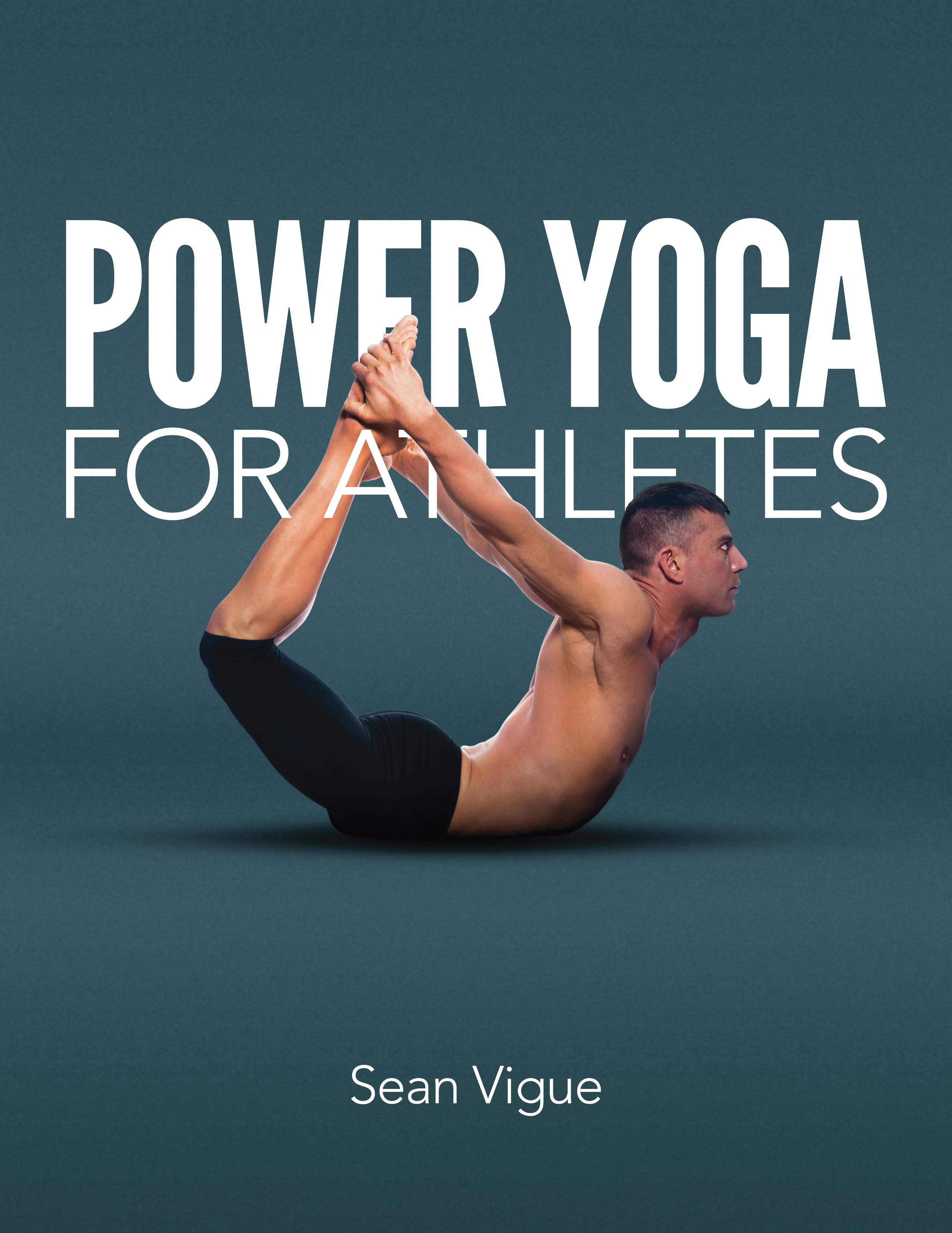 Typographic Book Cover Yoga : Power yoga for athletes sean vigue