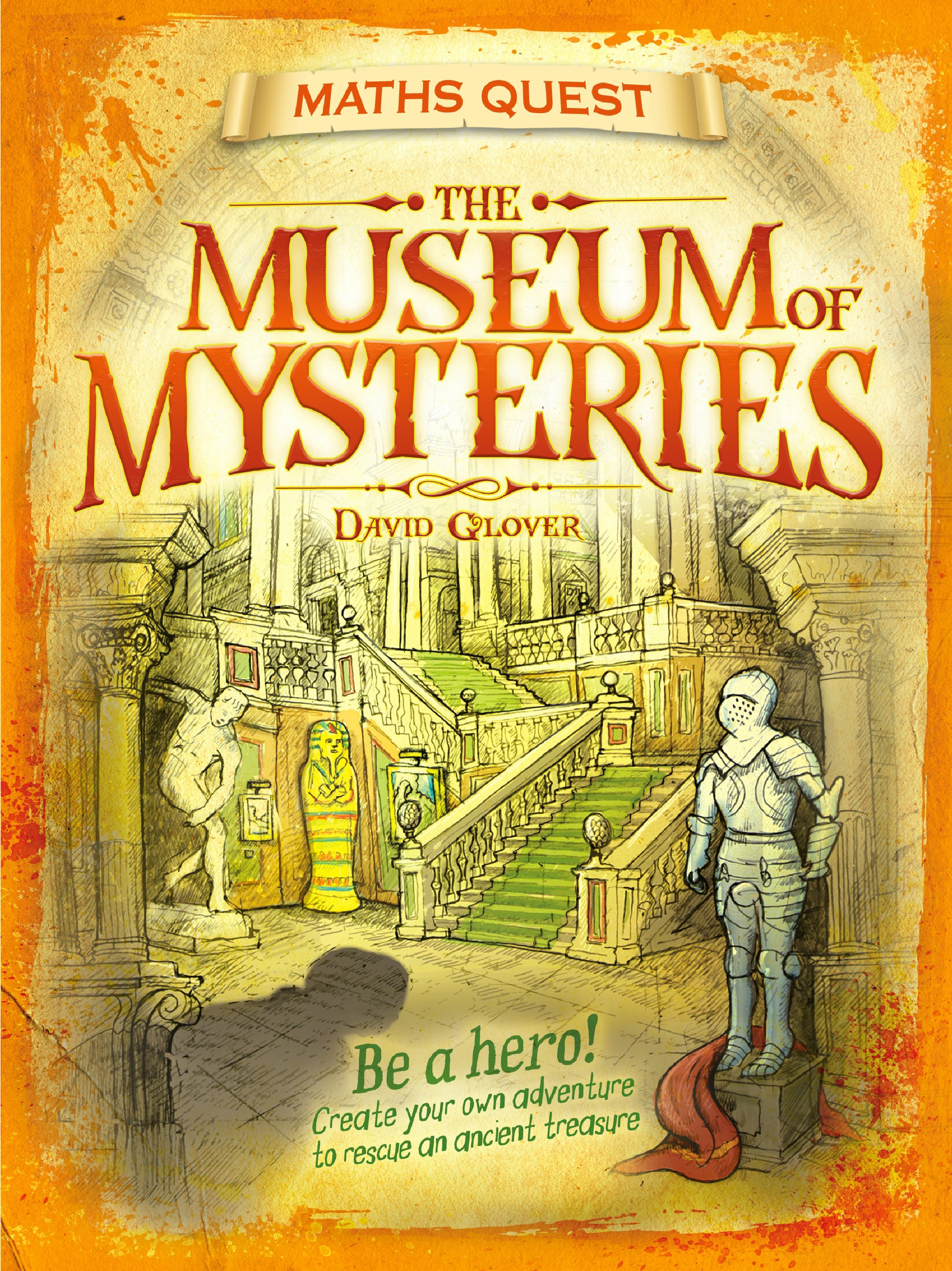 Old Book Cover Quest : Maths quest the museum of mysteries david glover